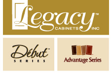 Legacy Cabinets, Debut Series, Advantage Series Logo